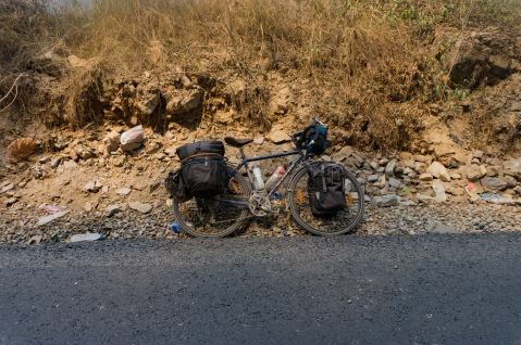 My vehicle with terrble Ortlieb panniers