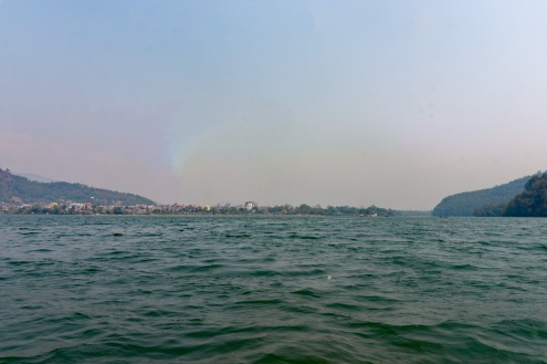 Pokhara seen from the lake