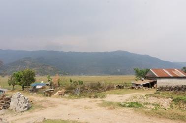 The landscape around Pokhara