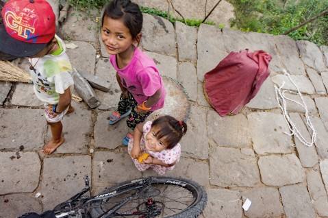 I met them when I got lost. It was so natural for this kids to pose